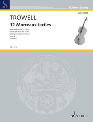 Arnold Trowell - 12 Easy pieces, op. 4 Volume 1 - Partition - di-arezzo.co.uk