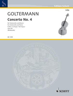 Concerto n° 4 sol majeur, op. 65 Georg Goltermann laflutedepan