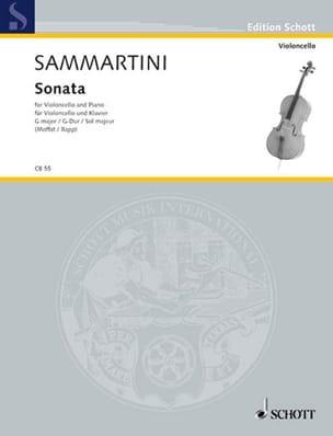 Sonate en Sol Majeur SAMMARTINI Partition Violoncelle - laflutedepan