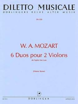 6 Duos pour 2 violons MOZART Partition Violon - laflutedepan
