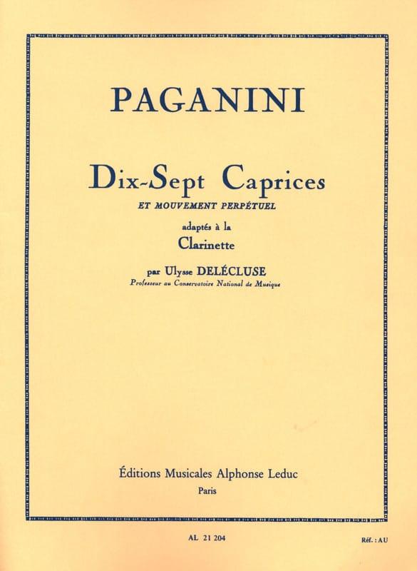 17 Caprices et Mouvement Perpétuel - PAGANINI - laflutedepan.com