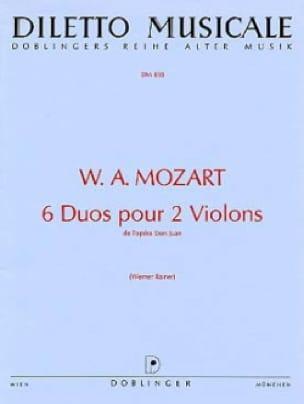 6 Duos pour 2 violons - MOZART - Partition - Violon - laflutedepan.com
