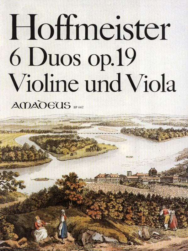 6 Duos op. 19 für Violine und Viola - HOFFMEISTER - laflutedepan.com