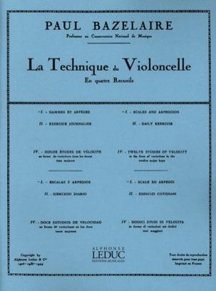 Gammes et arpèges Technique du violoncelle - Recueil 1 laflutedepan