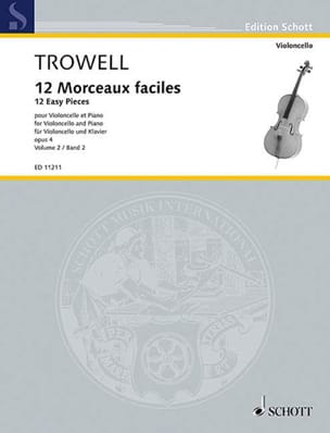 Arnold Trowell - 12 Easy Pieces Opus 4 Volume 2 - Partition - di-arezzo.co.uk