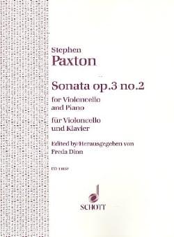 Sonate op. 3 n° 2 Stephen Paxton Partition Violoncelle - laflutedepan