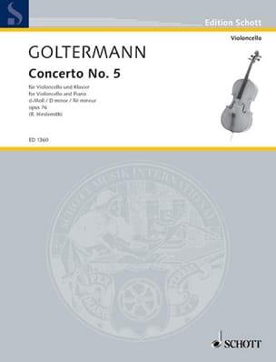 Concerto n° 5 ré mineur op. 76 Georg Goltermann Partition laflutedepan