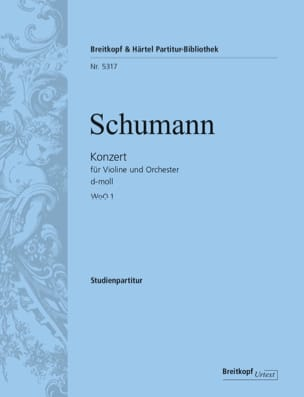 Violin concerto in D minor WoO 1 SCHUMANN Partition laflutedepan