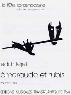 Emeraude et Rubis - 2 Flûtes Edith Lejet Partition laflutedepan