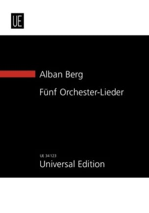 5 Orchester-Lieder Op. 4 New Study Score BERG Partition laflutedepan