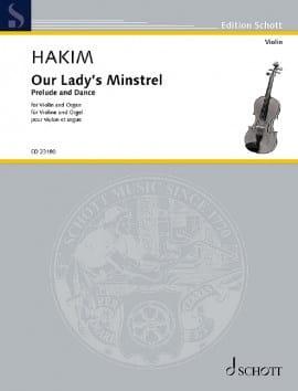 Our Lady's Minstrel Naji Hakim Partition Violon - laflutedepan