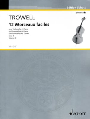 Arnold Trowell - 12 Easy pieces, op. 4 Volume 4 - Partition - di-arezzo.co.uk
