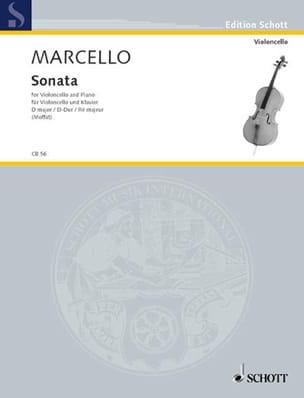 Sonate D-Dur Benedetto Marcello Partition Violoncelle - laflutedepan