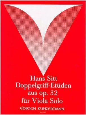 Doppelgriff-Etüden aus op. 32 - Viola Hans Sitt Partition laflutedepan