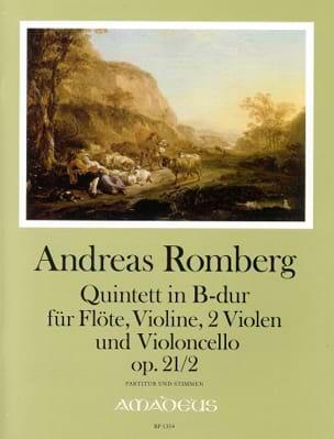 Quintette Opus 21 N°2 En Sib Maj. Andreas J. Romberg laflutedepan