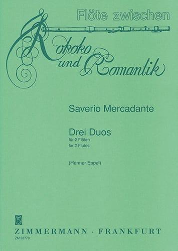 3 Duos - 2 Flöten - Saverio Mercadante - Partition - laflutedepan.com