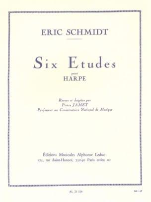 6 Etudes Eric Schmidt Partition Harpe - laflutedepan