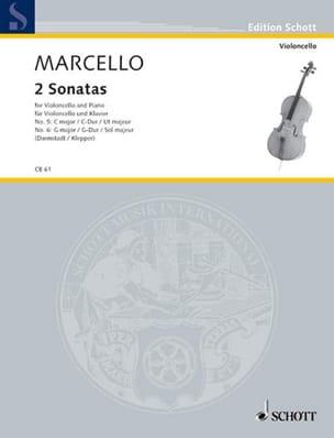 2 Sonaten G-Dur / C-Dur Benedetto Marcello Partition laflutedepan