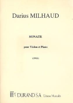 Sonate 1911 - Violon MILHAUD Partition Violon - laflutedepan