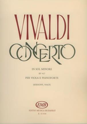 Concerto in sol mineur, RV 417 - Alto VIVALDI Partition laflutedepan