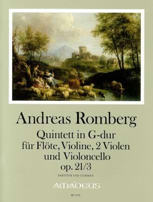 Quintette Opus 21 N°3 En Sol Maj. Andreas J. Romberg laflutedepan