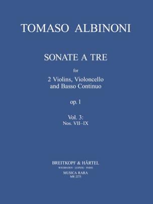 Sonate A Tre Op.1 Vol.3 ALBINONI Partition Quatuors - laflutedepan