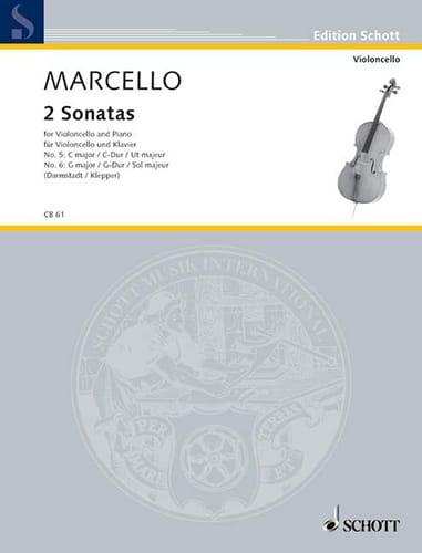 2 Sonaten G-Dur / C-Dur - Benedetto Marcello - laflutedepan.com