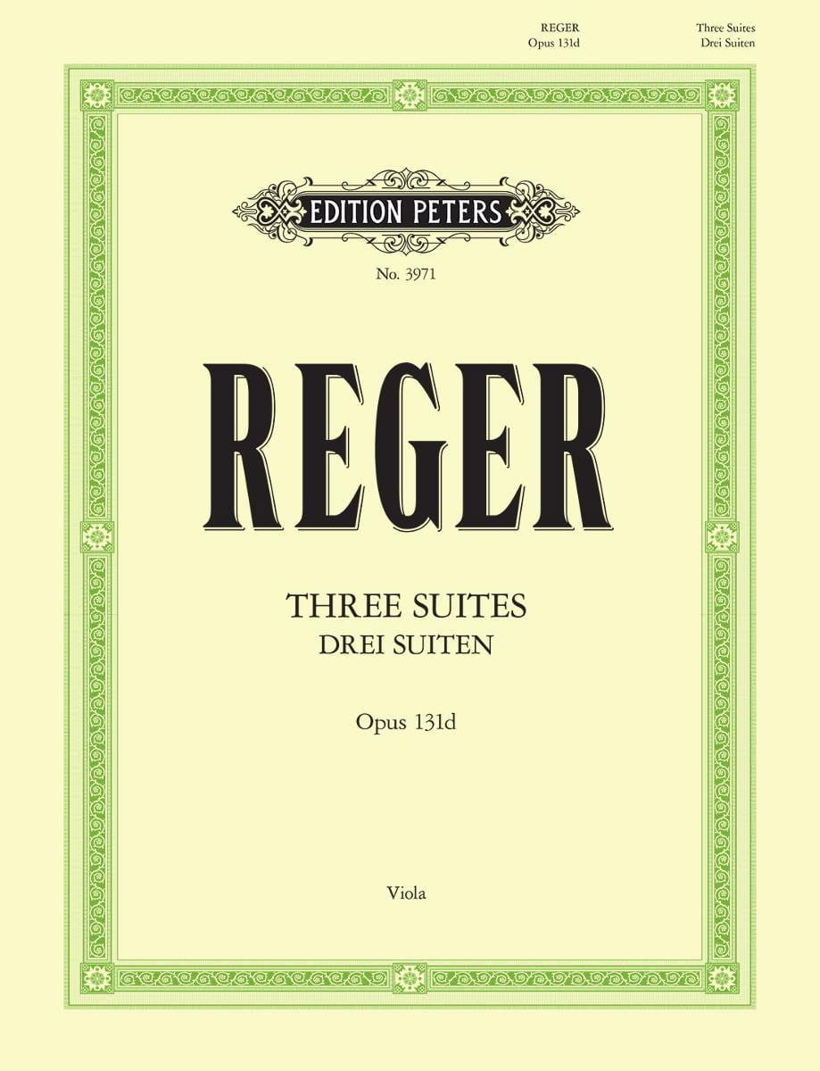 3 Suites op. 131d - Max Reger - Partition - Alto - laflutedepan.com