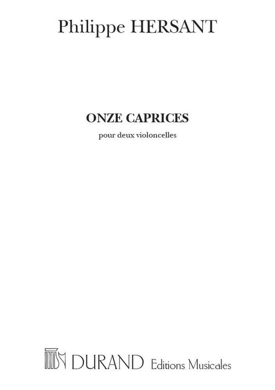 11 Caprices - Philippe Hersant - Partition - laflutedepan.com