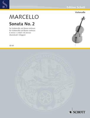 Sonate n° 2 en mi mineur Benedetto Marcello Partition laflutedepan