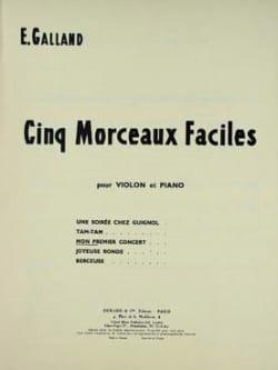Mon premier concert E. Galland Partition Violon - laflutedepan