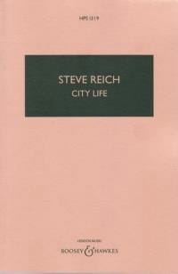 City life - Score Steve Reich Partition Grand format - laflutedepan