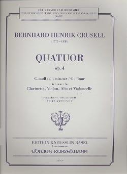Quatuor op. 4 en ut mineur - Clarinette, violon, alto et violoncelle - laflutedepan.com