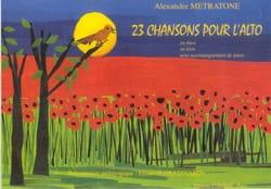 23 Chansons pour l'alto Alexandre Metratone Partition laflutedepan