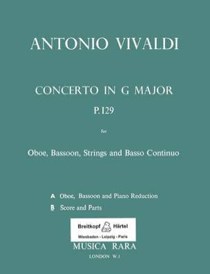 Concerto G-Dur Rv 545 - Oboe, Fagott, Streicher et Bc laflutedepan