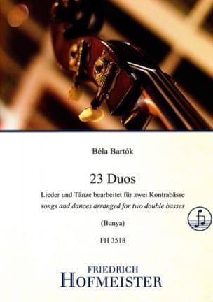 23 Duos Béla Bartok Partition Contrebasse - laflutedepan