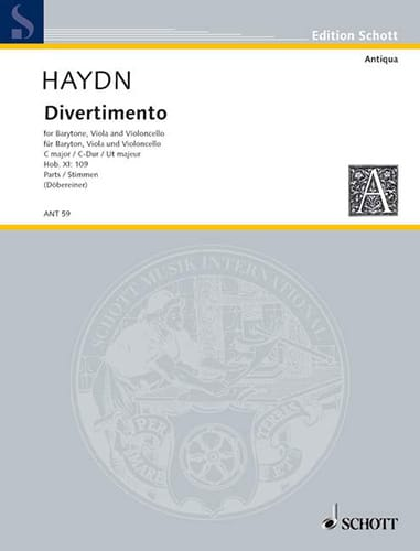 Divertimento Hob. 11 : 109 C-Dur -Stimmen - HAYDN - laflutedepan.com