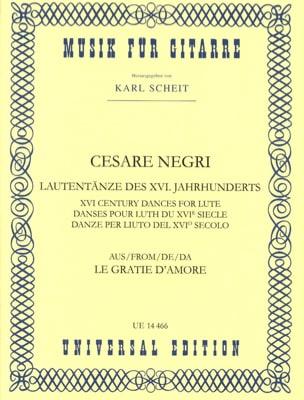 Lautentänze des 16. Jahrhunderts Cesare Negri Partition laflutedepan