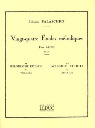24 Etudes mélodiques op. 77 Johannes Palaschko Partition laflutedepan