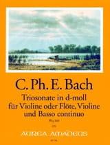Triosonate En Ré Min. Wq 160 Carl Philipp Emanuel Bach laflutedepan