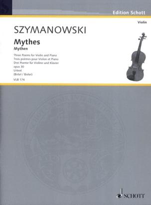 Mythes, 3 poèmes - Violon et piano SZYMANOWSKI Partition laflutedepan
