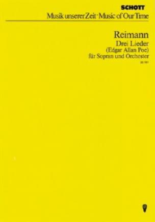Drei Lieder - Conducteur - Aribert Reimann - laflutedepan.com