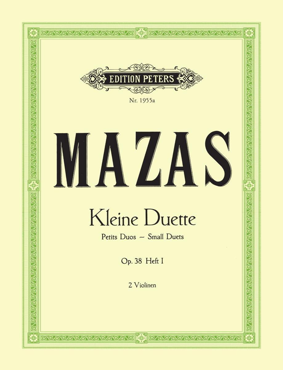Kleine Duette Op.38 Bd.1 Petits Duos - MAZAS - laflutedepan.com