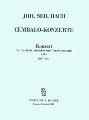 Cembalo-Konzert E-Dur BWV 1053 - Conducteur - BACH - laflutedepan.com