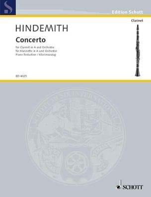 Concerto - Clarinette et Piano HINDEMITH Partition laflutedepan