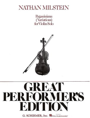 Paganiniana Nathan Milstein Partition Violon - laflutedepan