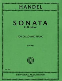 Sonata in D Minor HAENDEL Partition Violoncelle - laflutedepan