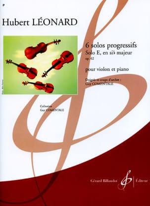 Solo E en si bémol majeur op. 62 Hubert Léonard Partition laflutedepan