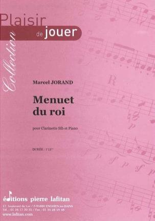 Menuet du Roi Marcel Jorand Partition Clarinette - laflutedepan
