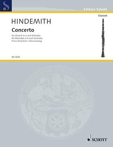 Concerto - Clarinette et Piano - HINDEMITH - laflutedepan.com